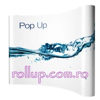 Pop-up banner 3x3 unit CURB + Print - cu troler mic